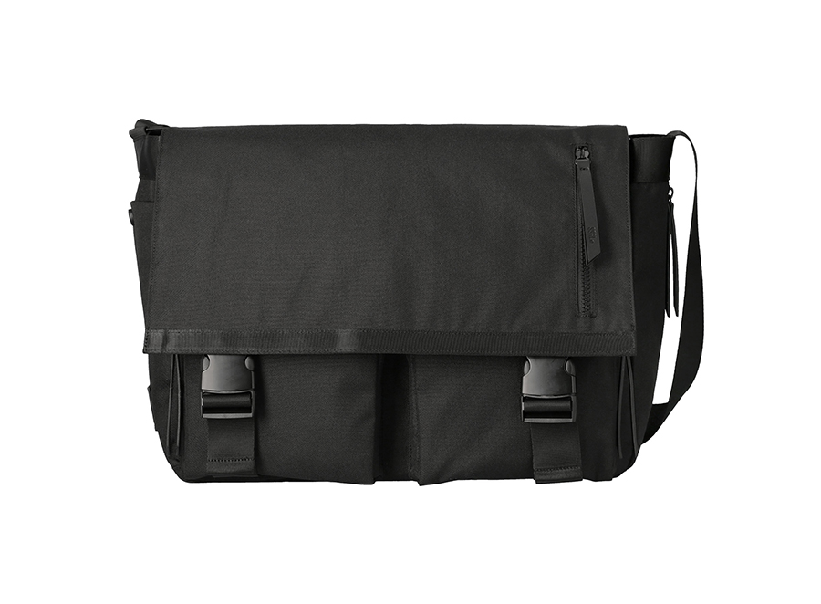 에스에스알엘(SSRL) dual pocket messenger bag / black